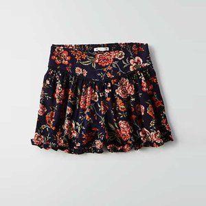 American Eagle boho floral ruffle hem shorts
